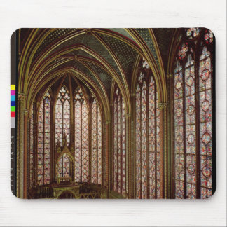 View of the stained glass windows mouse pad