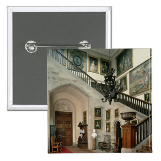 View of the Staircase Hall, 1812-15 2 Inch Square Button