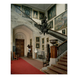 View of the Staircase Hall, 1812-15 Poster