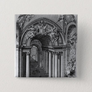 View of the staircase in the Scala Regia Pinback Button
