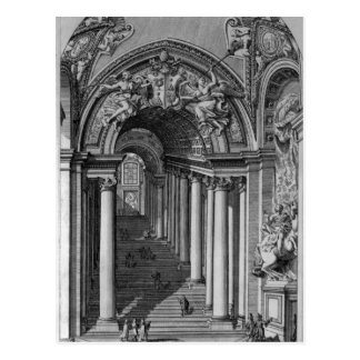 View of the staircase in the Scala Regia Postcard