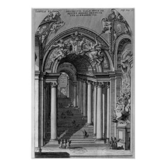 View of the staircase in the Scala Regia Poster
