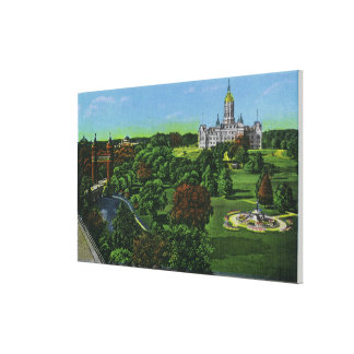 View of the State Capitol Grounds, Memorial Arch Gallery Wrapped Canvas