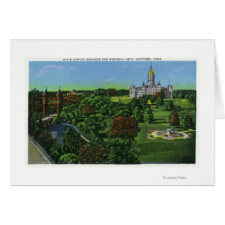 View of the State Capitol Grounds, Memorial Arch Greeting Card