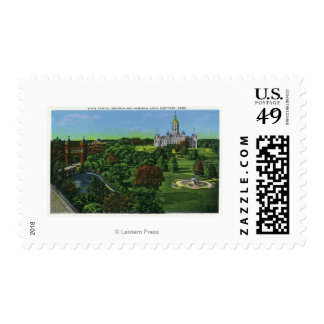 View of the State Capitol Grounds, Memorial Arch Postage