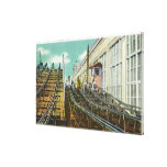 View of the Steeplechase Rollercoaster Stretched Canvas Print