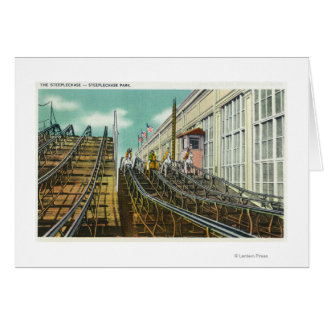 View of the Steeplechase Rollercoaster Card