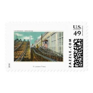 View of the Steeplechase Rollercoaster Postage