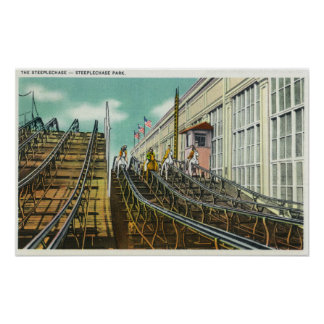 View of the Steeplechase Rollercoaster Poster