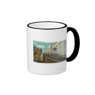 View of the Steeplechase Rollercoaster Ringer Mug