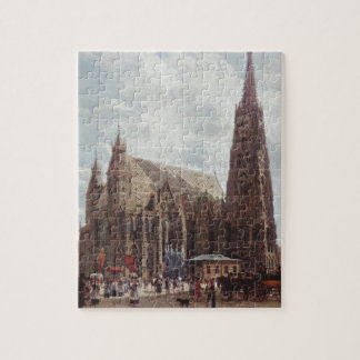 View of the Stephansdom from Stock im Eisen Platz Jigsaw Puzzle