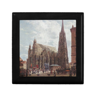 View of the Stephansdom from Stock im Eisen Platz Keepsake Box