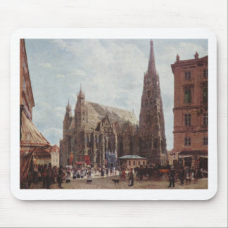 View of the Stephansdom from Stock im Eisen Platz Mouse Pad