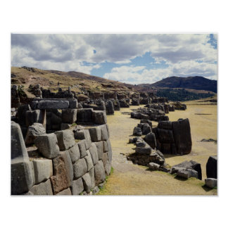 View of the stone walls poster