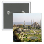 View of the Sultan Ahmet Camii  built 1609-16 2 Inch Square Button