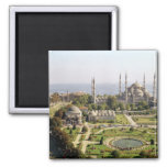 View of the Sultan Ahmet Camii  built 1609-16 2 Inch Square Magnet