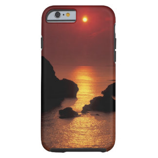 view of the sun setting over the sea tough iPhone 6 case