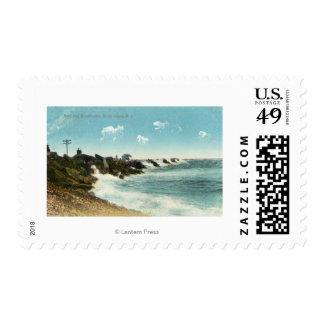 View of the Surf and Breakwater Postage Stamps