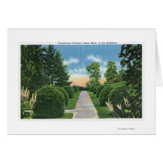 View of the Tanglewood Gardens # 2 Greeting Card
