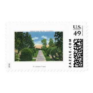View of the Tanglewood Gardens # 2 Postage Stamps