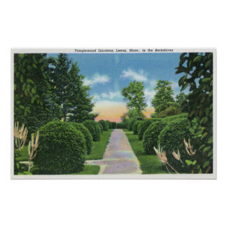 View of the Tanglewood Gardens # 2 Poster