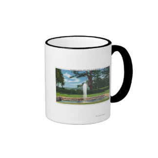 View of the Tanglewood Gardens and Fountain Coffee Mug