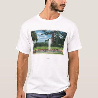 View of the Tanglewood Gardens and Fountain T-Shirt