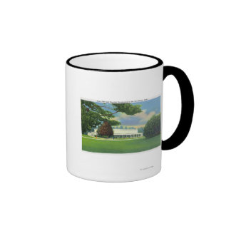 View of the Tanglewood Music Shed and Grounds Ringer Coffee Mug