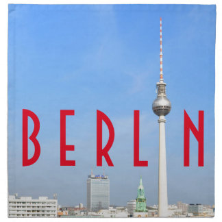 View of the Television Tower in Berlin, Germany Napkin