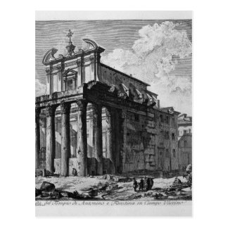 View of the Temple of Antoninus and Faustina Postcard