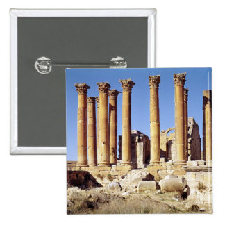 View of the Temple of Artemis, built c.386 AD 2 Inch Square Button
