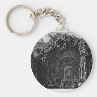 View of the Temple of Camene by Giovanni Battista Keychain