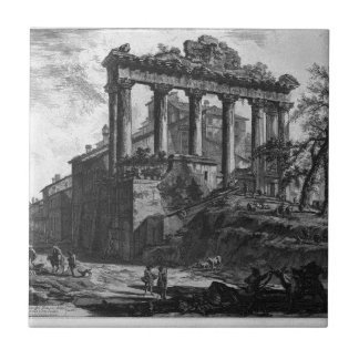 View of the Temple of Concord by Giovanni Battista Ceramic Tile