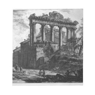 View of the Temple of Concord by Giovanni Battista Notepad
