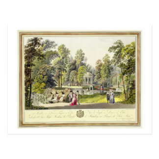 View of the Temple of Diana at Erlaw, engraved by Postcard