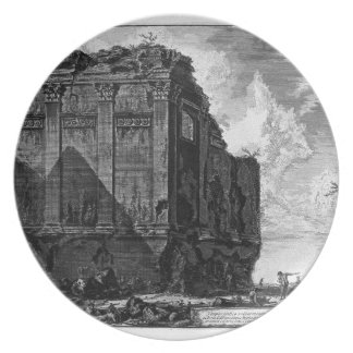 View of the Temple of Hercules in the City of Cora Dinner Plate