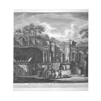 View of the Temple of Isis, which today exists... Note Pad
