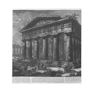 View of the Temple of Neptune by Giovanni Battista Notepad