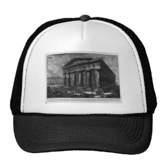 View of the Temple of Neptune by Giovanni Battista Trucker Hat