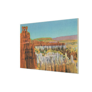 View of the Temple of Osiris Canvas Print