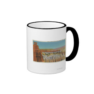 View of the Temple of Osiris Ringer Mug