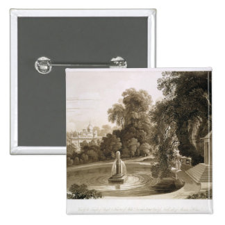 View of the Temple of Suryah and the Fountain of M Pinback Button