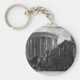 View of the Temple of the Sibyl at Tivoli by Giova Keychain