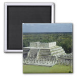 View of the Temple of the Warriors  post 150 AD 2 Inch Square Magnet