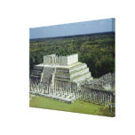 View of the Temple of the Warriors  post 150 AD Canvas Print