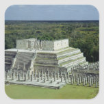 View of the Temple of the Warriors  post 150 AD Square Sticker
