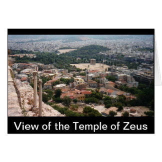 View of the Temple of Zeus... Card