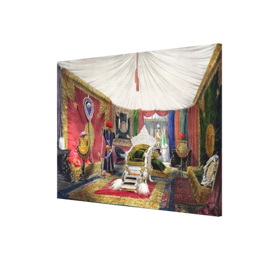 View of the tented room and ivory carved throne, i canvas print