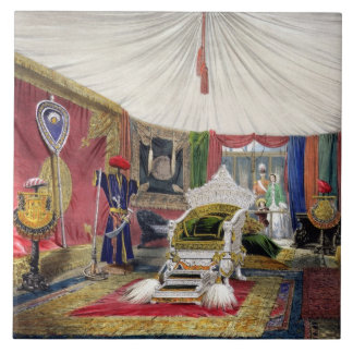 View of the tented room and ivory carved throne, i tile