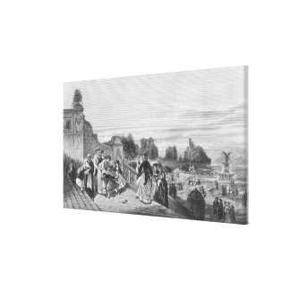 View of the Terrace, Central Park, 1872 Canvas Print